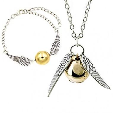 Collana e bracciale boccino d' oro