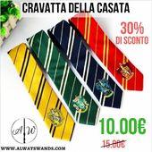 🏷️ 30% di SCONTO per 12 ore! 🎁 ➡️ CRAVATTA DELLA CASATA a soli 10.00€ invece di 15.00! 🔥 Affrettati per essere tra i primi 10 ad usufruire di questo sconto. 📟 Solo 12h. Solo 10 pezzi a disposizione. 🌎 Link Diretto: https://alwayswands.com/it/oggetti-magici/54-cravatta-della-propria-casata.html  #SCONTOLAMPO #sunday #sconto #harrypotter #cravattadellacasata #alwayswands #grifondoro #serpeverde #corvonero #tassorosso