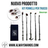 Novità!🦉Disponibile nel nostro store il fantastico set da 5 pennelli per trucchi, con il manico a forma delle bacchette dei personaggi di Harry Potter⚡Completo di astuccio in tessuto, al prezzo speciale di 13€ 😍 APPROFITTANE SUBITO!! Link diretto: https://alwayswands.com/it/oggetti-magici/76-pennelli-make-up.html  #harrypotter #bacchettemagiche #wand #handmade #madeinitaly #grifondoro #serpeverde #corvonero #tassorosso