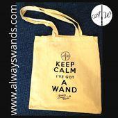 """⚡Non farti scappare la nostra bellissima shopper """"keep calm I've got a wand"""" ✨😍 ➡️ Compra subito la shopper: https://alwayswands.com/oggetti-magici/47-shopper.html  #harrypotter #bacchettemagiche #wand #handmade #madeinitaly #grifondoro #serpeverde #corvonero #tassorosso"""