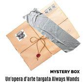 🎁 Mystery Box: un'opera d'arte.  #cattelan #mauriziocattelan #cattelanbanana #potterhead #pottermore #harrypotter #mysterybox #alwayswands  #grifondoro #serpeverde #corvonero #tassorosso