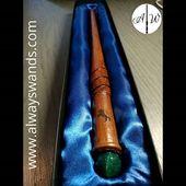 ▶️ Splendida bacchetta con inserto in pietra 💎 e incisione laser 🐴 per un corvonero molto esigente 💙 ➡️ www.alwayswands.com  #harrypotter #bacchettemagiche #wood #handmade #madeinitaly #grifondoro #serpeverde #corvonero #tassorosso