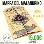 🏷️ 30% di SCONTO per 12 ore! 🎁 ➡️ MAPPA DEL MALANDRINO a soli 15.00€ 🔥 Affrettati per essere tra i primi 10 ad usufruire di questo sconto. 📟 Solo 12h. Solo 10 pezzi a disposizione. 🌎 Link Diretto: https://alwayswands.com/oggetti-magici/55-mappa-del-malandrino.html  #SCONTOLAMPO #sunday #sconto #harrypotter #mappadelmalandrino  #alwayswands #grifondoro #serpeverde #corvonero #tassorosso